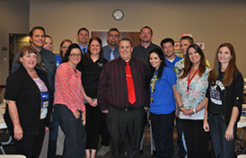 This image of Laveen staff members will link to the Human Resources department page.
