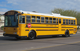 This image of a school bus will link to the Transportation department page.